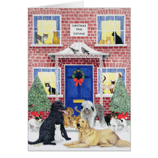 Calor del navidad tarjeta de felicitación