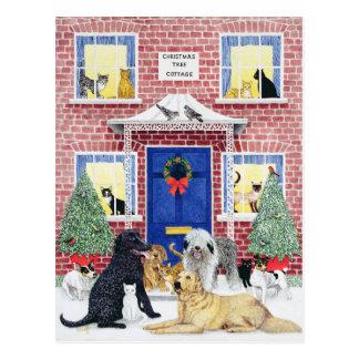 Calor del navidad tarjeta postal
