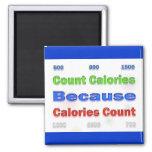 Calorías de la cuenta de la pérdida de la dieta y  iman de frigorífico