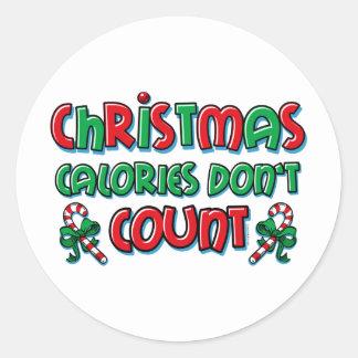 Calorías del navidad etiquetas redondas