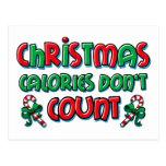 Calorías del navidad postal