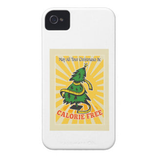 Calorie Free Christmas Tree Tape Measure iPhone 4 Cases