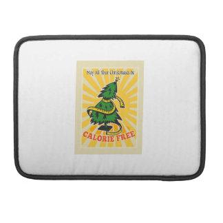 Calorie Free Christmas Tree Tape Measure MacBook Pro Sleeves