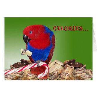 Calories Greeting Card