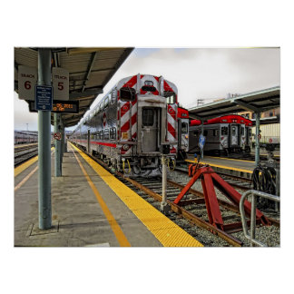 CALTRAINS STATION 4th and King St. - San Francisco Poster