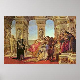 Calumnia de Apelles de Botticelli Sandro Poster