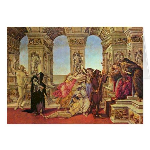 Calumnia de Apelles de Botticelli Sandro Tarjeta De Felicitación