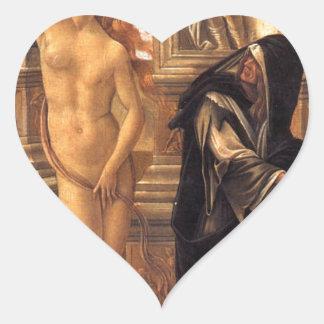 Calumny by William-Adolphe Bouguereau Heart Sticker