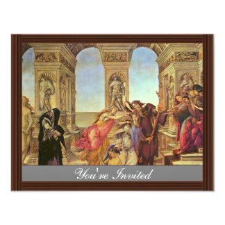 Calumny Of Apelles By Botticelli Sandro Invitations