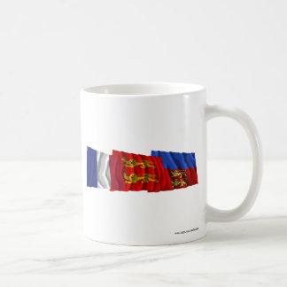 Calvados, Basse-Normandie & France flags Mug