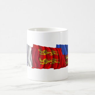 Calvados, Basse-Normandie & France flags Mugs