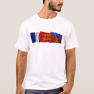 Calvados, Basse-Normandie & France flags T-Shirt
