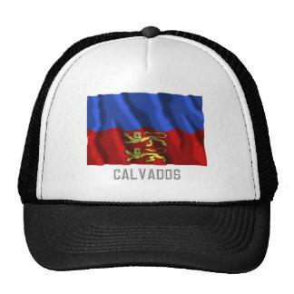Calvados waving flag with name hats