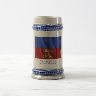 Calvados waving flag with name coffee mug
