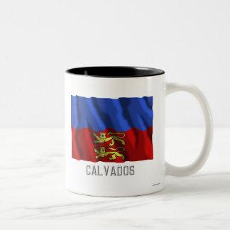 Calvados waving flag with name mug