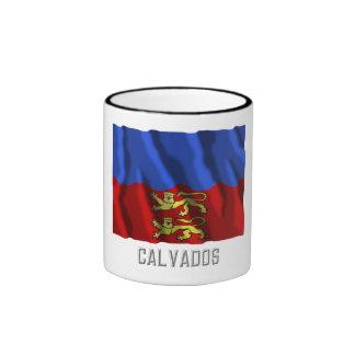 Calvados waving flag with name coffee mugs
