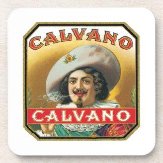 Calvano Vintage Cigar Label Beverage Coasters