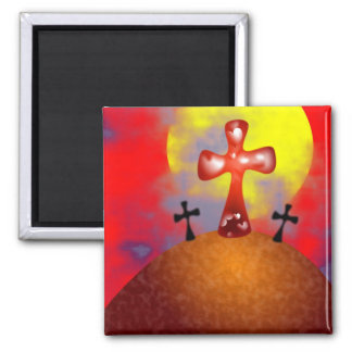calvary 2 inch square magnet