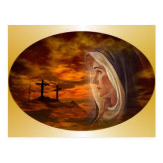 Calvary bendecido del Virgen María Postal
