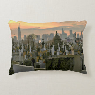 Calvary Cemetery, Queens, New York Decorative Pillow