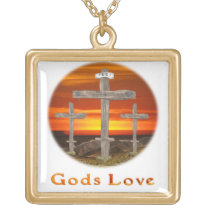Calvary christian gifts gold plated necklace