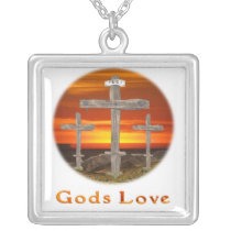 Calvary christian gifts silver plated necklace