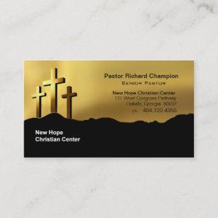 Christian business cards 2800 christian business card templates calvary crosses christian symbol ministerpastor business card colourmoves