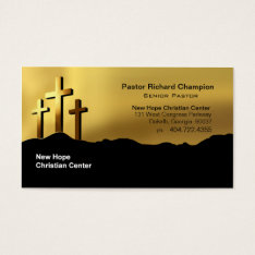 Calvary Crosses Christian Symbol Minister/pastor Business Card at Zazzle