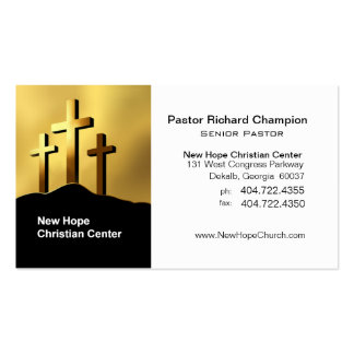 Calvary Crosses Christian Symbol Minister/Pastor Business Card Templates