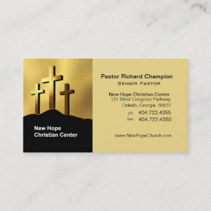 calvary crosses christian symbol ministerpastor business card - Pastor Business Cards