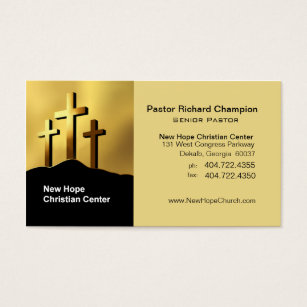 Ministry business cards templates zazzle calvary crosses christian symbol ministerpastor business card colourmoves