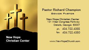 Minister business cards templates zazzle calvary crosses christian symbol ministerpastor business card colourmoves
