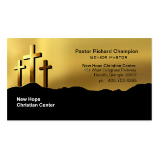 Calvary Crosses Christian Symbol Minister/Pastor Double-Sided Standard Business Cards (Pack Of 100)