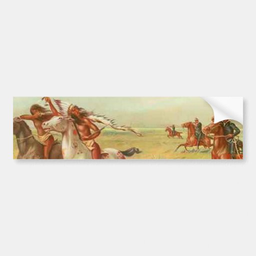 Calvary e indios etiqueta de parachoque