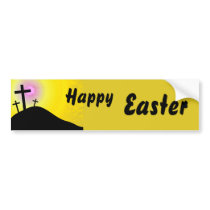 Calvary, Happy, Easter Bumper Sticker