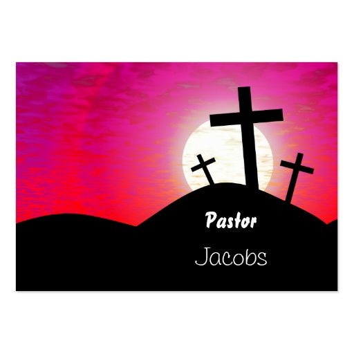 Calvary, Pastor, Jacobs Business Card Template