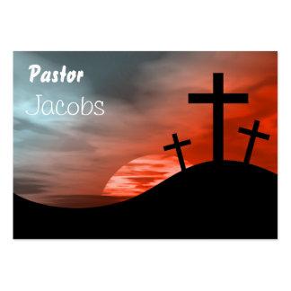 Calvary, pastor, Jacobs Plantilla De Tarjeta De Negocio