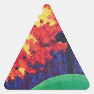 Calvary Pegatina Triangular