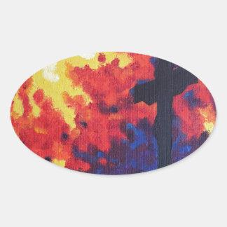 Calvary Oval Sticker