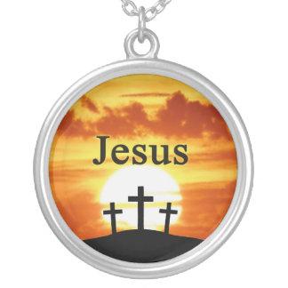 Calvary sunrise Jesus necklace