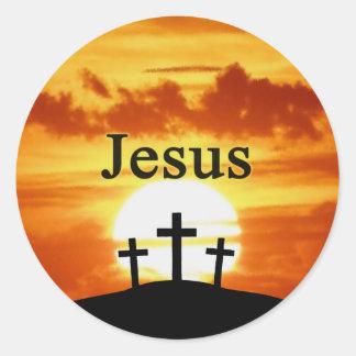 Calvary sunrise Jesus sticker