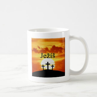 Calvary Sunrise Ježíš Coffee Mug