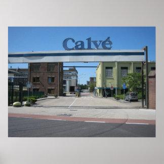 Calvé factory poster