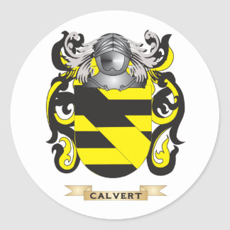 Calvert Coat of Arms (Family Crest) Classic Round Sticker
