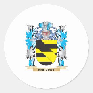 Calvert Coat of Arms - Family Crest Classic Round Sticker