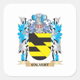 Calvert Coat of Arms - Family Crest Square Sticker