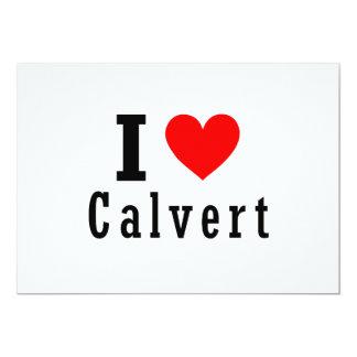 """Calvert, diseño de la ciudad de Alabama Invitación 5"""" X 7"""""""