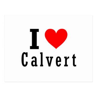 Calvert, diseño de la ciudad de Alabama Postales