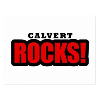 Calvert, diseño de la ciudad de Alabama Tarjeta Postal