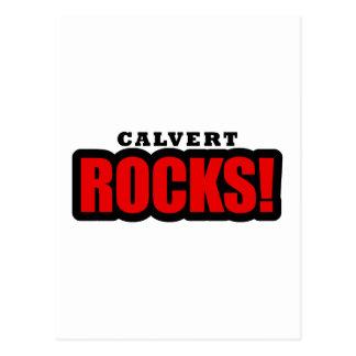Calvert, diseño de la ciudad de Alabama Tarjetas Postales